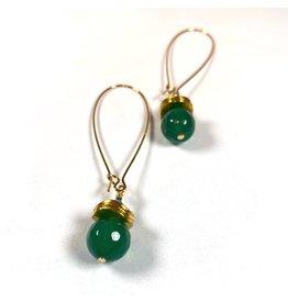 KKajoux Jewels Siam Green Long Earrings