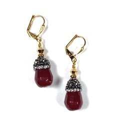 KKajoux Jewels Zuhair Red Short Earrings