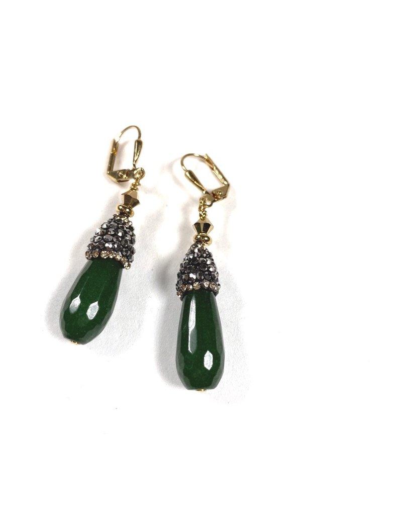 KKajoux Jewels Zuhair Green Earrings