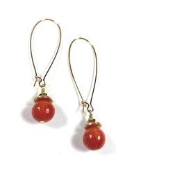 KKajoux Jewels Sponge Coral Long Earrings