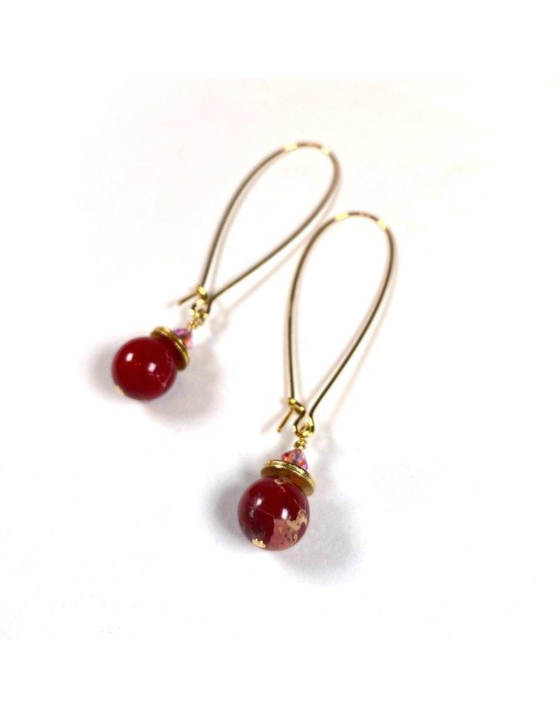 Raspberry Crush Long Earrings