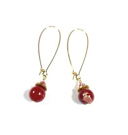 Raspberry Crush Long Earrings
