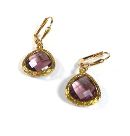 KKajoux Jewels Roman Plum Teardrop Short Earrings