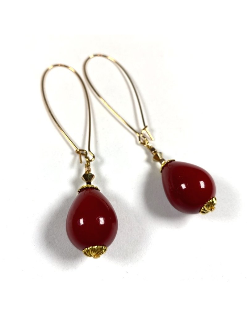 KKajoux Jewels Nutcracker Red Long Earrings