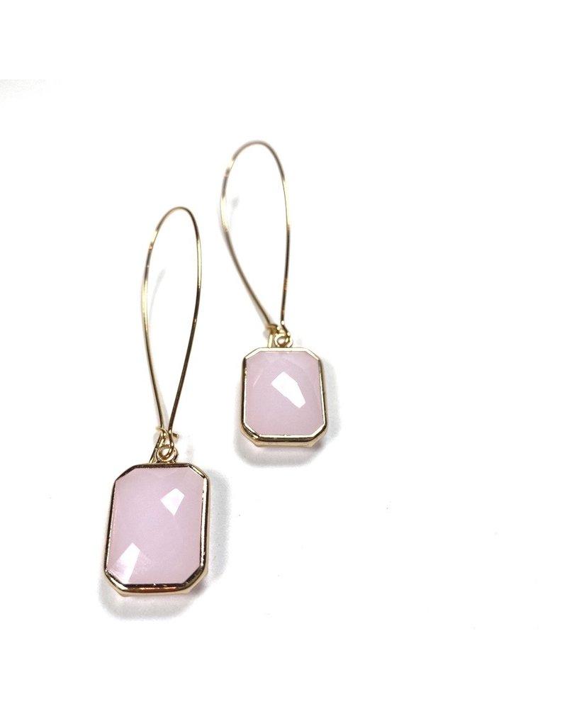 KKajoux Jewels Rose Deco Drops Long Earrings