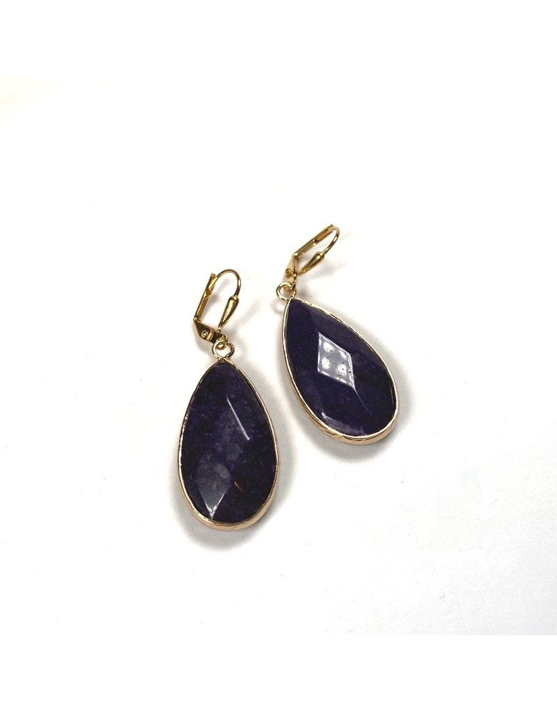 KKajoux Jewels Lapis Short Earrings
