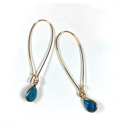 KKajoux Jewels Mini Ellie Teardrop Long Earrings