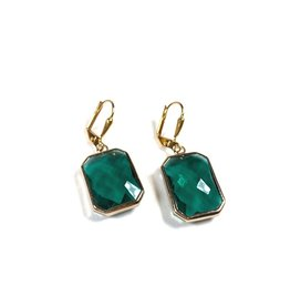 KKajoux Jewels Emerald Deco Drop Short Earrings