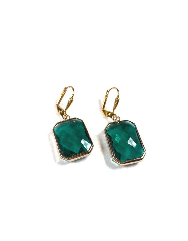 KKajoux Jewels Emerald Deco Drop Short Earrings