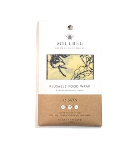 Millbee Studio Reusable Beeswax Food Wraps Variety 3 Pack