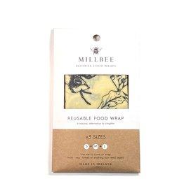 Millbee Studio Reuseable Beeswax Food Wraps Variety 3 Pack