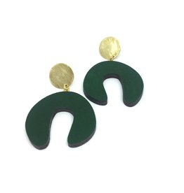Shock Of Grey Damian's Doodle Earrings - Green
