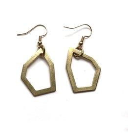 Kaiko Studio Geometric Outline Brass Earrings