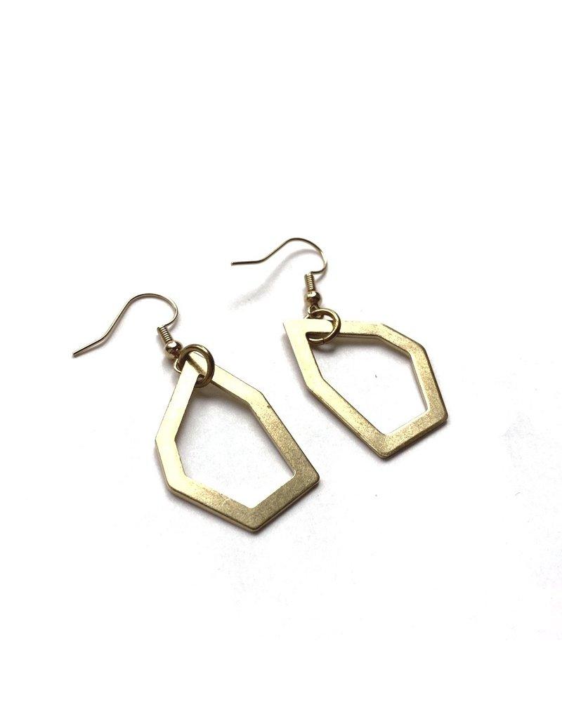 Kaiko Studio Geometric Outline Earrings