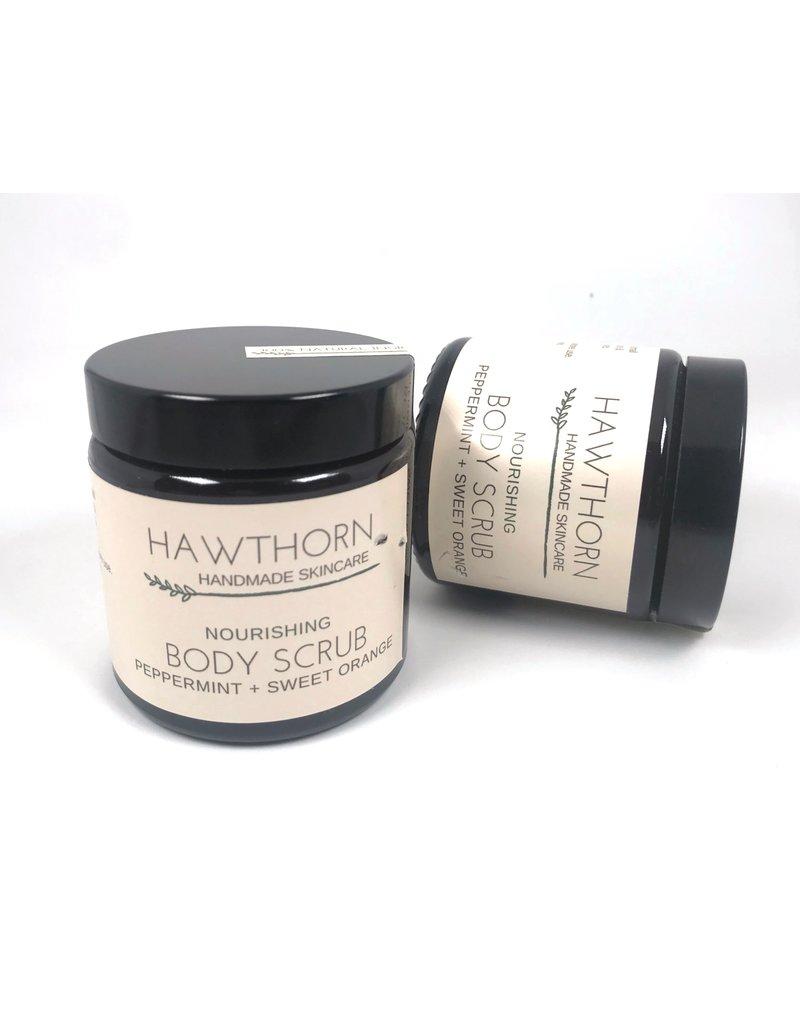 Hawthorn Handmade Skincare Nourishing Body Scrub Peppermint and Sweet Orange