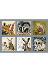 Annabel Langrish Set of Irish Wildlife Illustrated Mini Cards - 12 Pack