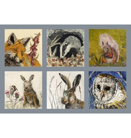 Annabel Langrish Set of Irish Wildlife Illustrated Mini Cards - 12 Pack