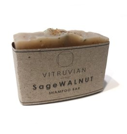 Vitruvian Soap Sage and Walnut Shampoo Bar