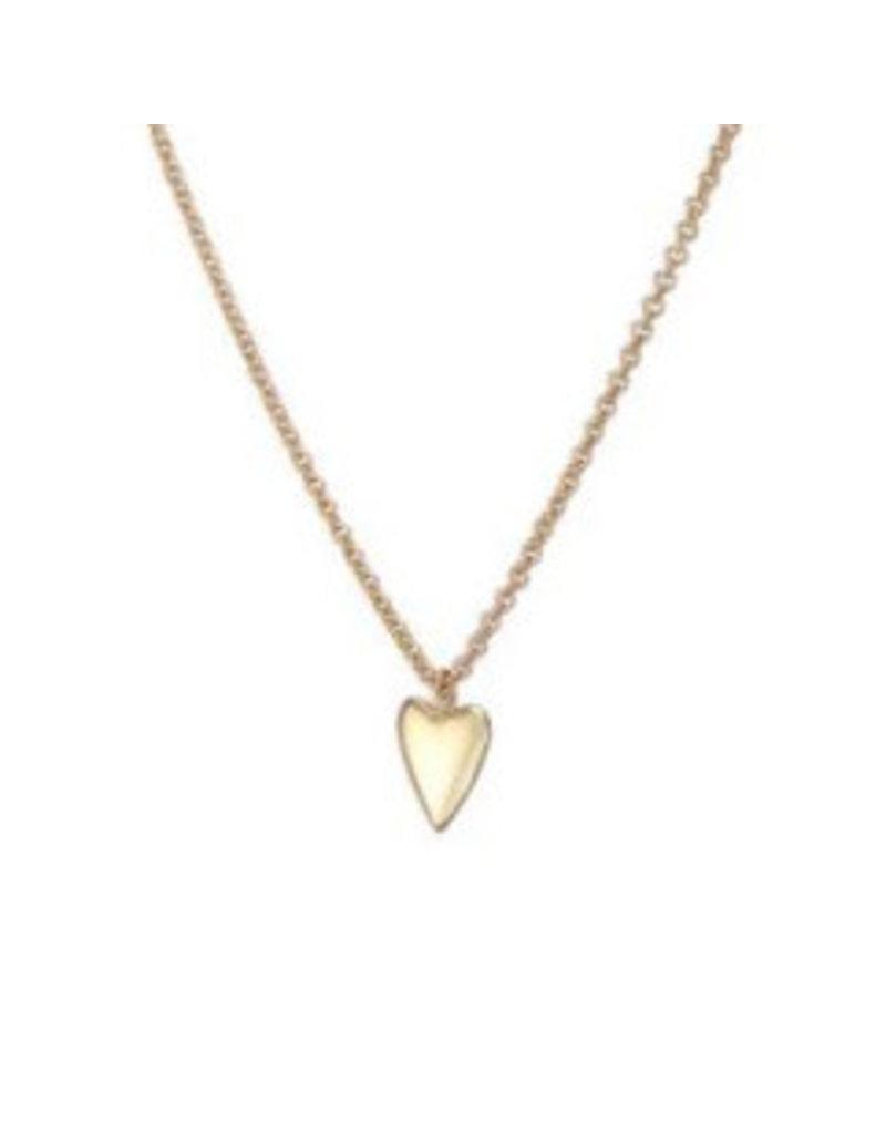 Mary k Jewellery Gold Tiny Heart Necklace