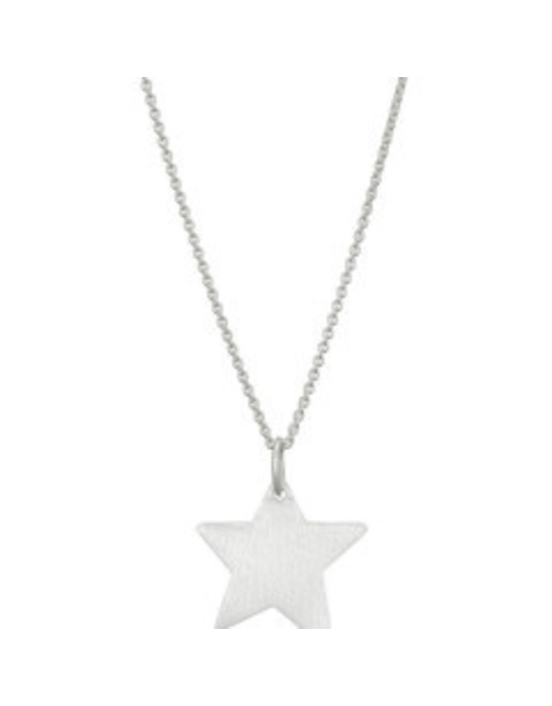 Mary k Jewellery Brushed Silver Shooting Star Necklace