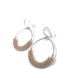 NUA Catkin Hoop Earrings - Gold and Silver