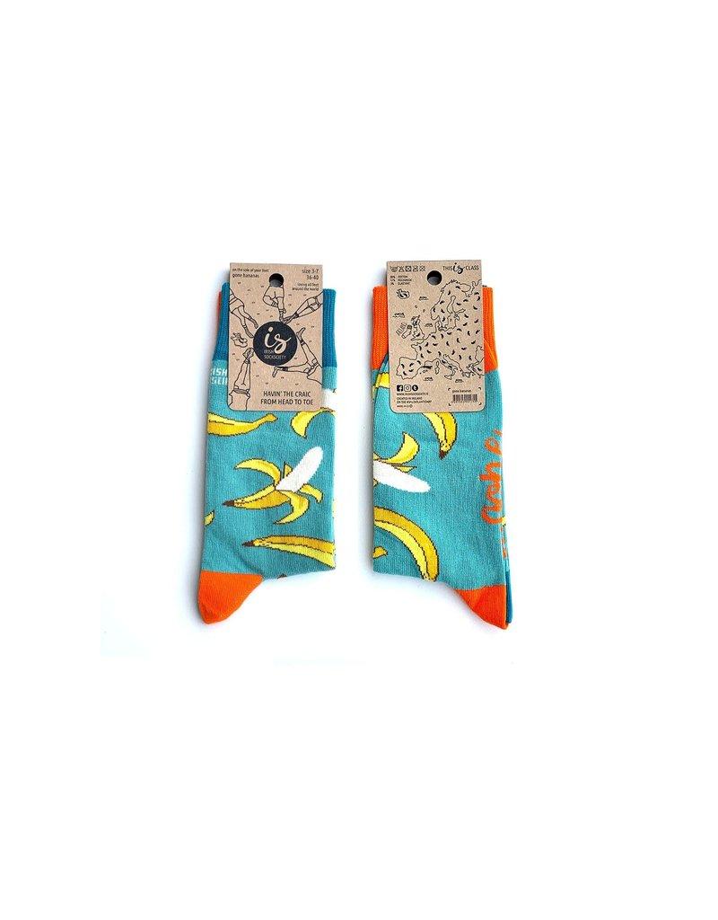 Irish Sock Society Gone Bananas Socks - Size 8-12