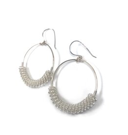 NUA Catkin Hoop Earrings -  Silver and Gold