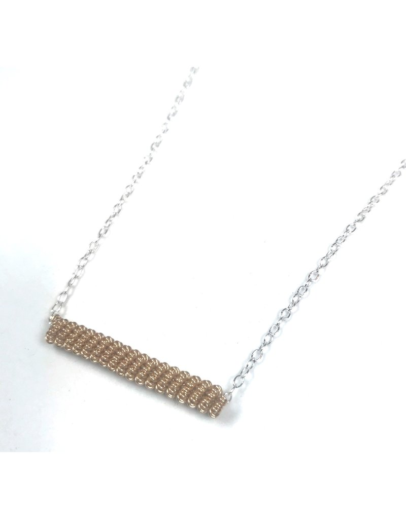 NUA Catkin Bar Necklace - Gold and Silver