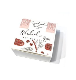 The Good Garden Rhubarb & Roses - Soy Wax Melts