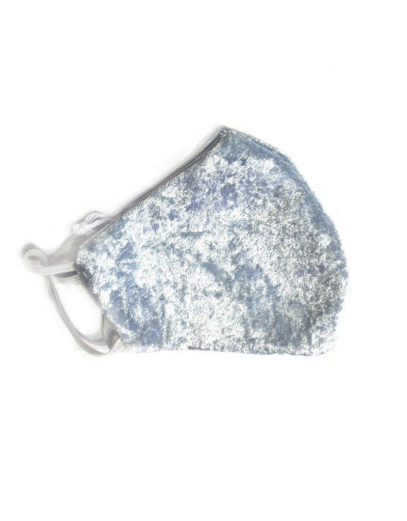 MOG Face Mask - Baby Blue Velvet