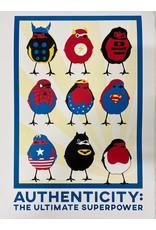 Bex Shelford Superhero Robins Screenprint