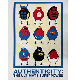 Bex Shelford Superhero Robins Screenprint