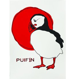 Bex Shelford Sunrise Puffin Screenprint