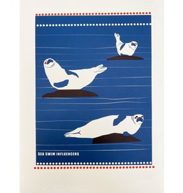 Bex Shelford Sea Swim Influencers Screenprint