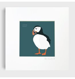 Bex Shelford Mounted Puffin Print