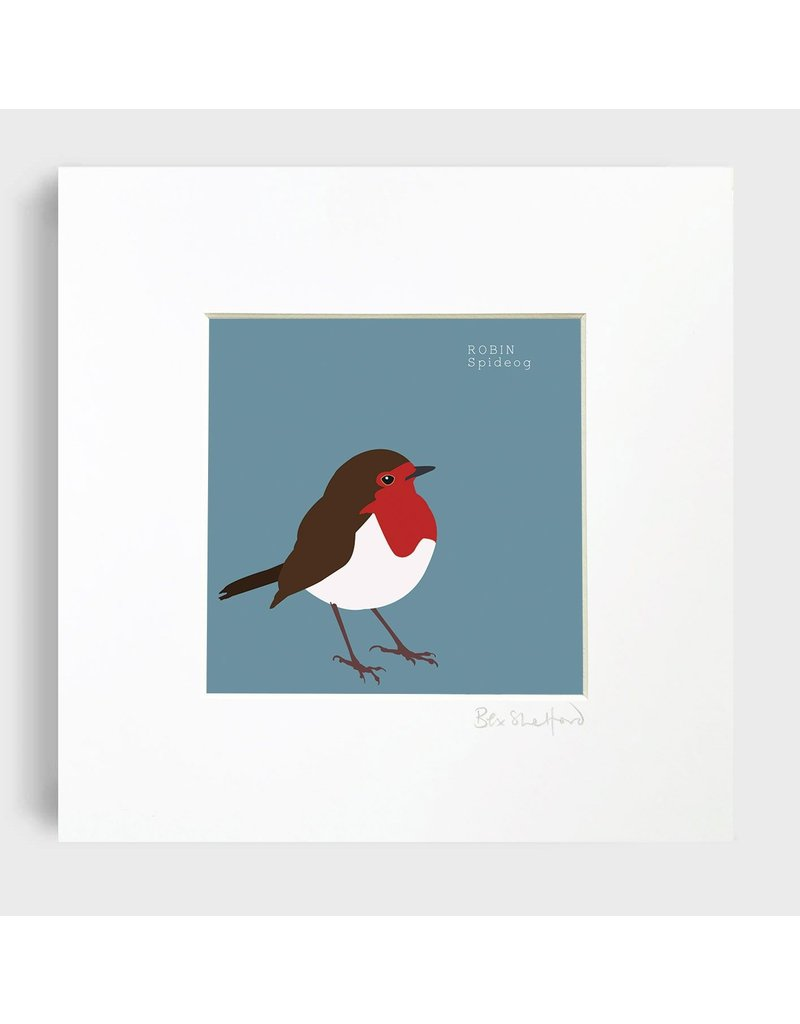 Bex Shelford Mounted Robin Print