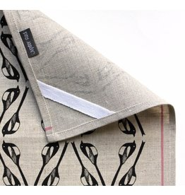 Jupiter Red Magpie Linen Tea Towel