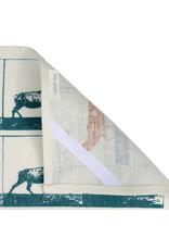 Jupiter Red Linen Tea Towel Stags