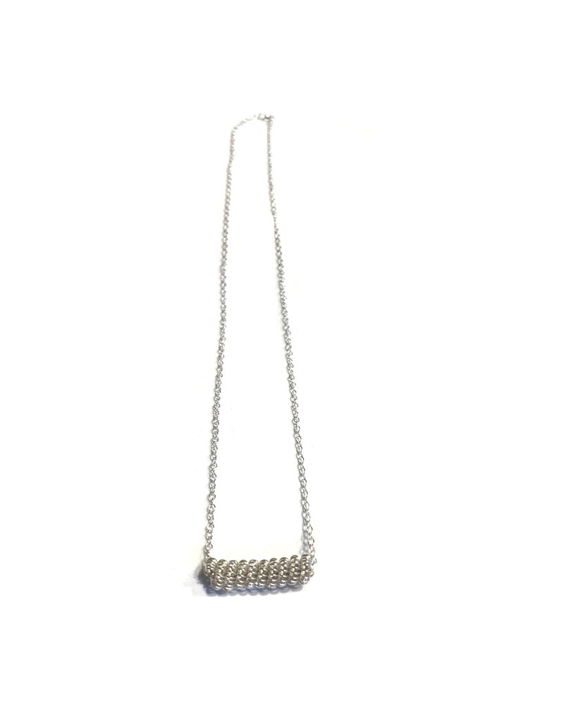 NUA Catkin Bar Necklace - Sterling Silver