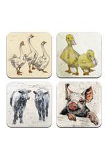 Annabel Langrish  Irish Farmyard Animals Coaster Set