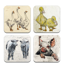 Annabel Langrish Irish Farmyard Animals Coaster Set