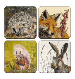 Annabel Langrish Irish Woodland Wildlife Coaster Set