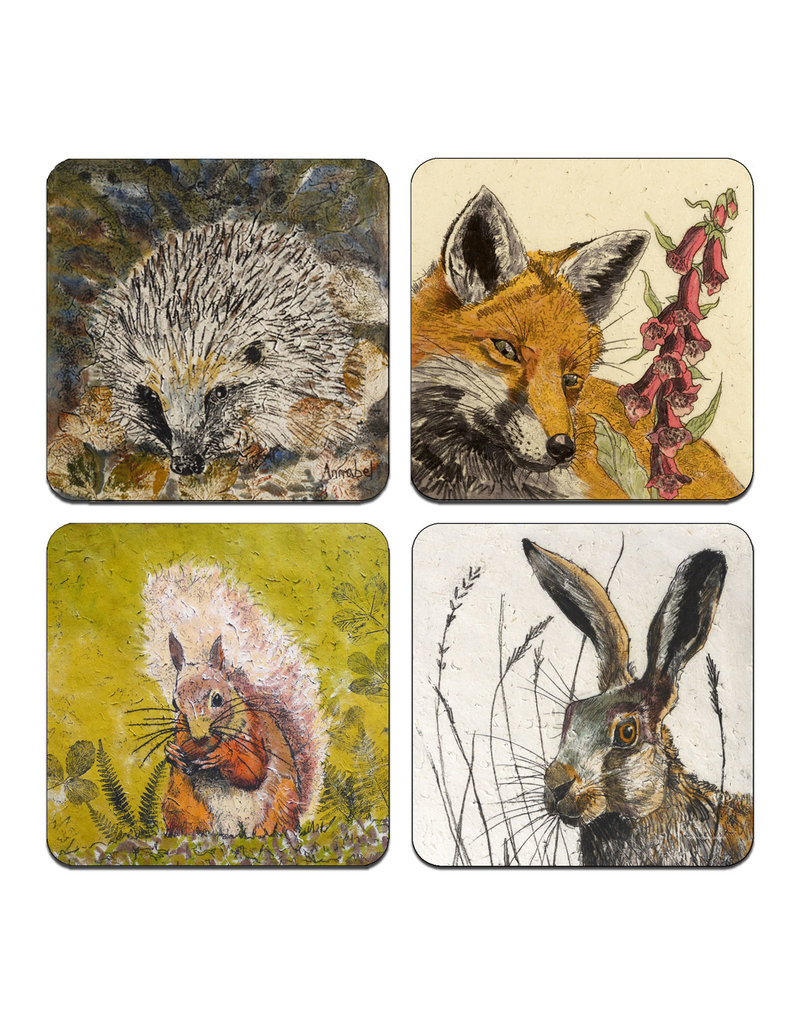 Annabel Langrish  Irish Woodland Wildlife Coaster Set