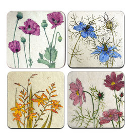 Annabel Langrish Irish Wild Flowers Coaster Set