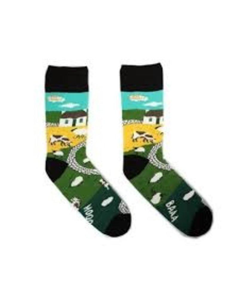 Irish Socksciety The Irish Landscape Socks - Size 8-12