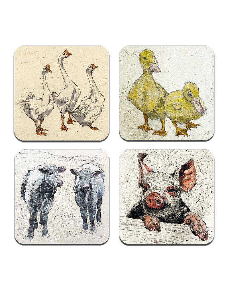 Annabel Langrish  Irish Farmyard Animals Placemat Set