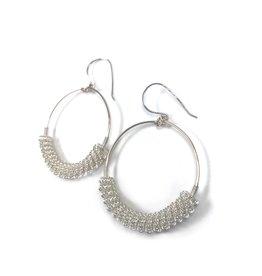 NUA Catkin Hoop Earrings - Silver