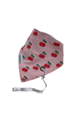 The Stork Box Cherry Blossom Dribble Bib with Soother Clip