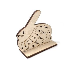 Snow Cosy Hare Wood Decoration