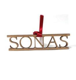 Snow Sonas/Joy Wood Decoration